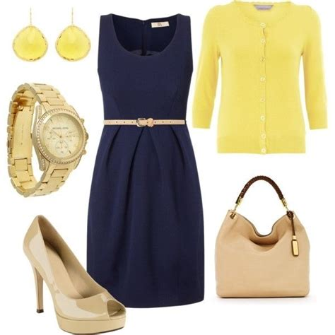 navy simple classic work dress fashion style
