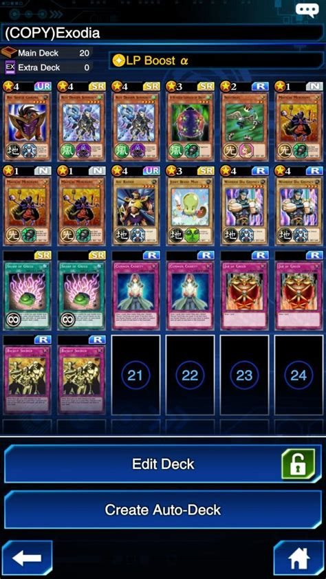 best yugioh decks yu gi oh duel links exodia deck recipe best cards to