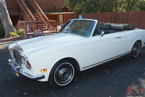 rolls royce chrome 1972 rolls royce convertable chrome bumper rolls
