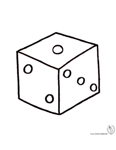 printable colour dice coloring page of dice game for coloring for kids