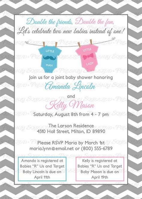 Joint Baby Shower Invitation Wording by The World S Catalog Of Ideas
