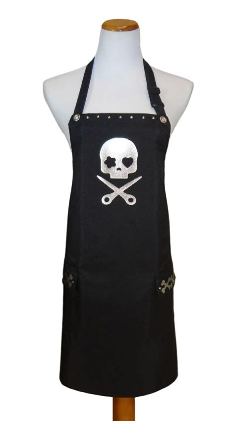 Trendy Hairdresser Aprons | hair stylist salon aprons quot skull and scissors quot from trendy
