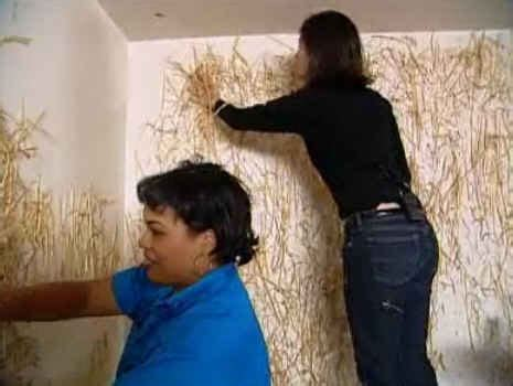 Hildi Trading Spaces | remember when hildi glued straw on the walls