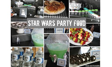 Halloween Crafts Treats - star wars party food clean and scentsible