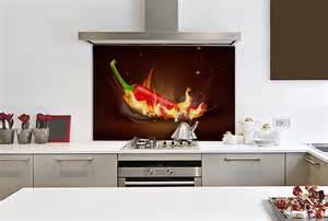 Kitchen Splashback Designs flaming chilli glass splashback enhance your rooms