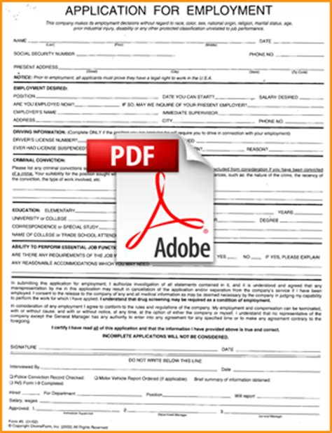 8 application form job form pdf basic job appication letter