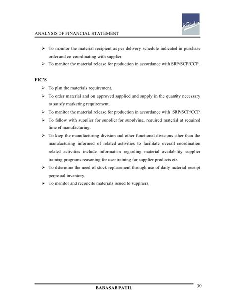 Analysis Of Investment Decisions Mba Project by Analysis Of Financial Statement Kirloskar Project Report