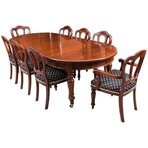 mahogany dining room table and chairs antique victorian mahogany dining table c1880 and eight