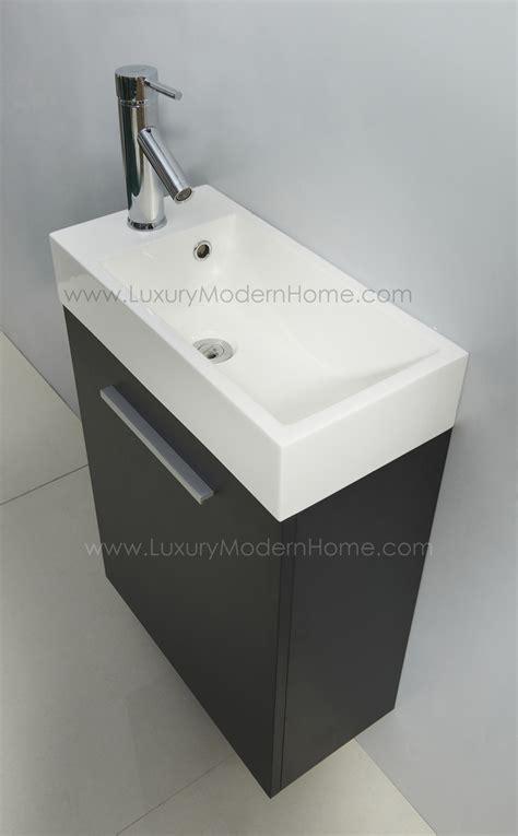 vanity sink   espresso black small bathroom cabinet resin wall hung mount ebay