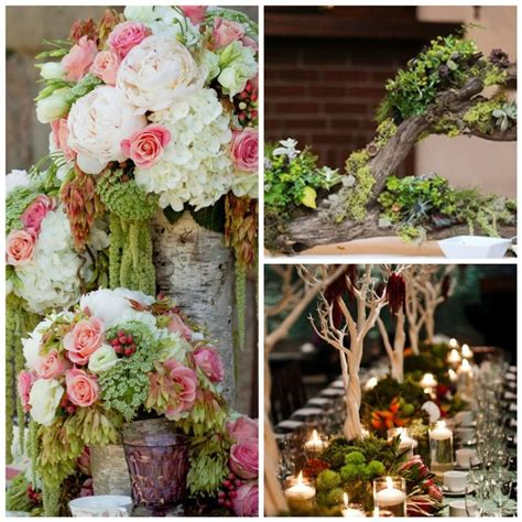 rustic wedding centerpieces idea pink and white flowers
