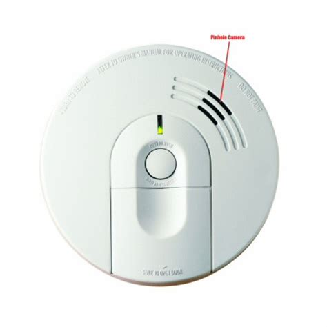 smoke detector camera with wifi support watch live from