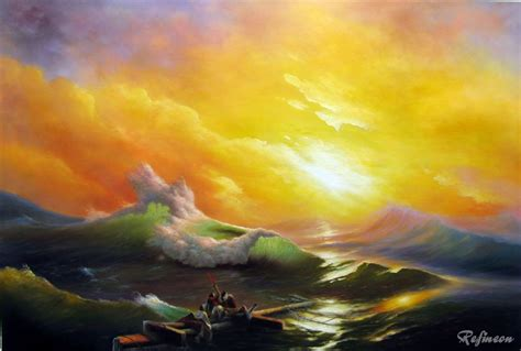 pics for gt ivan aivazovsky the ninth wave ivan aivazovsky oil painting repro the ninth wave kitchen