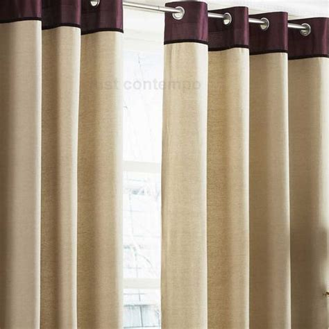 aubergine and cream curtains aubergine purple cream jules eyelet lined curtains ebay