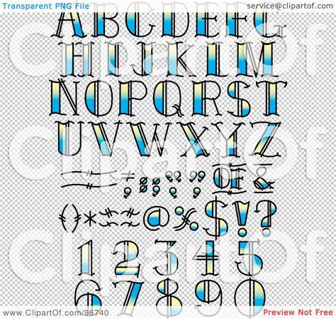 tattoo digital numbers royalty free rf clipart illustration of a digital