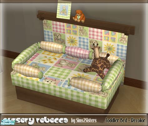 sims 3 toddler bed sims2sisters toddler bed recolor