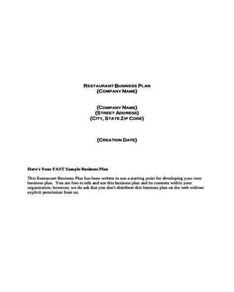 2018 Restaurant Business Plan Fillable Printable Pdf Forms Handypdf Cat Cafe Business Plan Template