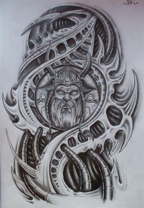 design tattoo biomechanical warna finished viking biomech by karlinoboy on deviantart