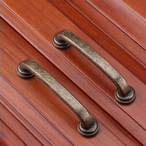 Antique Brass Kitchen Cabinet Handles 96mm Kitchen Cabinet Handles Bronze Cupboard Pull Antique