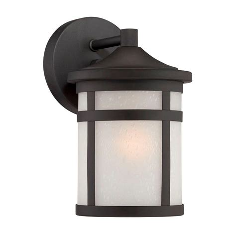 Home Depot Outdoor Wall Lighting Acclaim Lighting Blue Ridge Collection 1 Light Outdoor Architectural Bronze Wall Mount Light