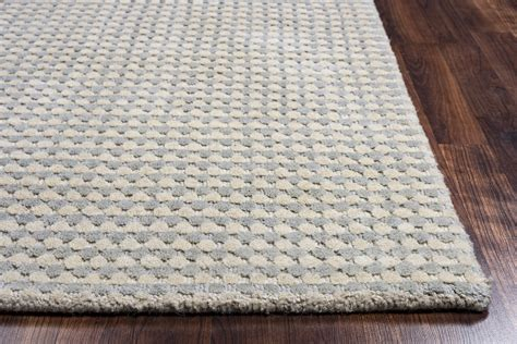 Platoon Dotted Pattern Wool Area Rug In Blue Grey Brown Blue Grey Brown Area Rug