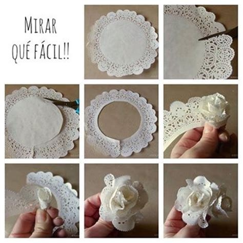 How To Make Flowers Out Of Paper Doilies - wonderful diy easy lace flower