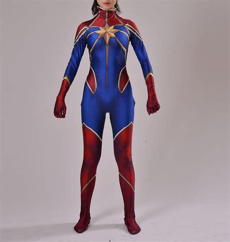 Costume Marvel Captain F766 captain marvel costume ms marvel costume comic costume print
