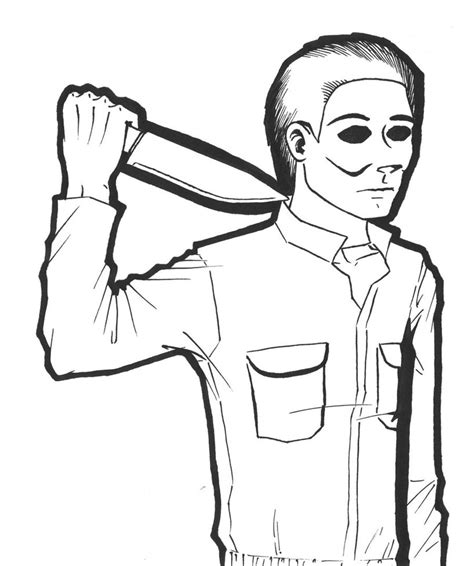 Michael Myers Coloring Pages Michael Myers Coloring Pages