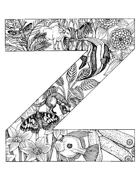color with z coloriage alphabet animaux pour enfants dessins 224