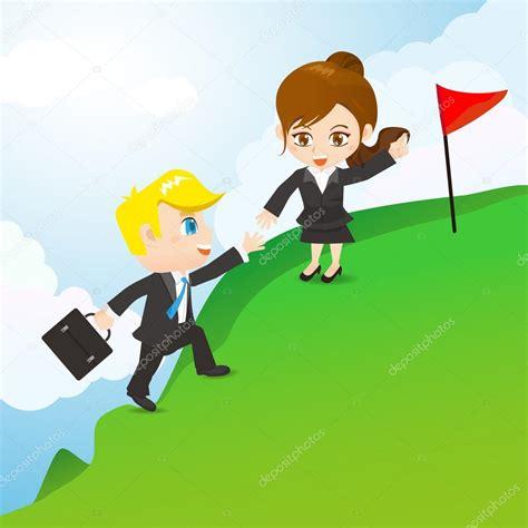 imagenes niños trabajando en equipo ilustraci 243 n de dibujos animados empresarios trabajo en