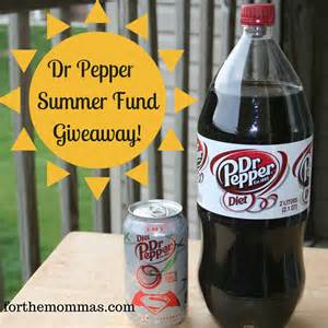 Dr Pepper Sweepstakes - diet dr pepper the summer fund giveaway ftm