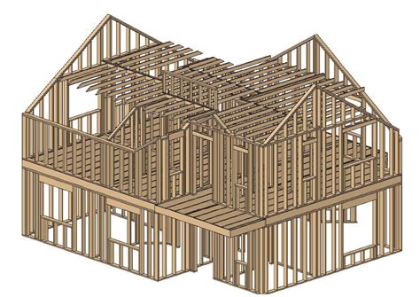 framing a house framing house free 3d model cgtrader com