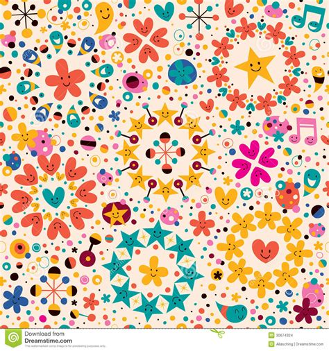 video on pattern fun cartoon pattern stock images image 30674324