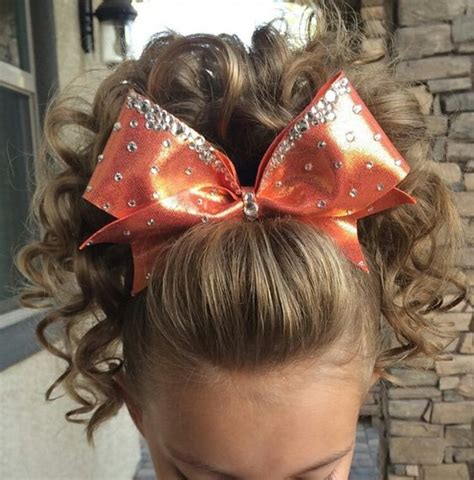 hairstyles for long hair for competition cheer poof cheer hair pinterest cheer curls and