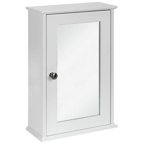 buy simple value 1 door mirror cabinet white at
