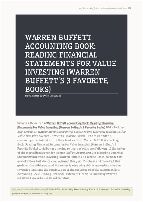 financial reporting book warren buffett accounting book reading financial