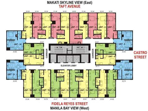 condo layout one archers place condominium taft avenue manila