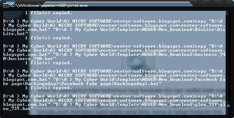 membuat virus batch nicky software