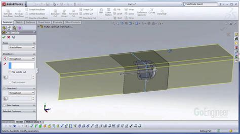 solidworks tutorial forming tool solidworks gusset forming tool youtube