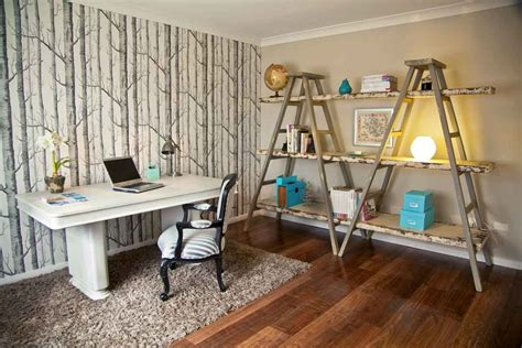 Office Shelf Decorating Ideas Terrific Leaning Ladder Shelf Decorating Ideas Gallery In Home Office Eclectic Design Ideas