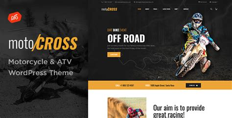 wordpress themes free motorcycle motocross motorcycle atv wordpress theme
