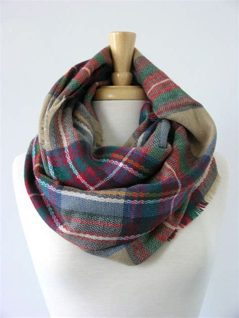 17 best ideas about plaid infinity scarf on