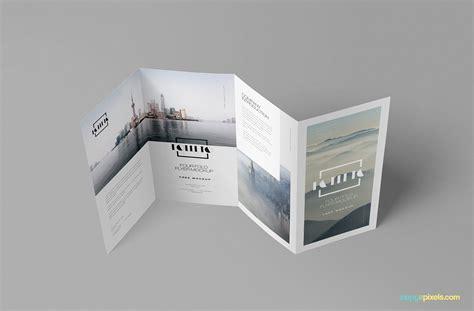 folded brochure free photo realistic folded brochure mockup zippypixels