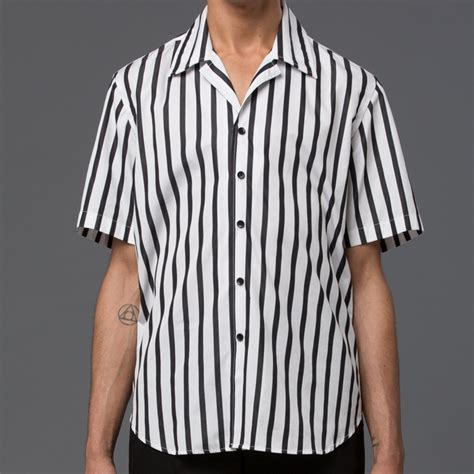 Original Magnificents Collar Listed Sleeve Kemeja White carlos cos dress shirt with collar black white stripe garmentory