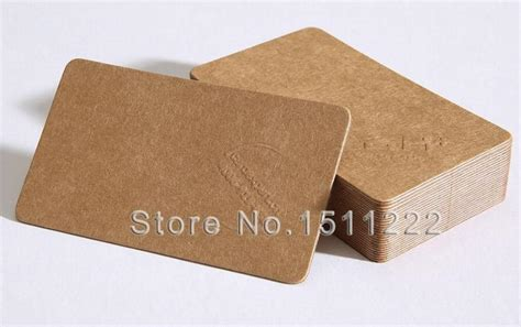Printing On Craft Paper - color edge cards gold foil kraft paper business card kraft