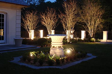 landscape lighting landscape lighting design installation st louis dusk to