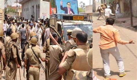 ipc section 332 10 arrested for violence in saharanpur