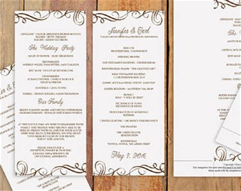 birthday program template 5 best images of reception menu template wedding programs