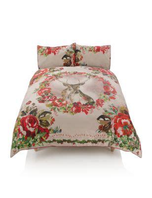 Framed Stag Bedding Set M S M S Bed Linen Sets