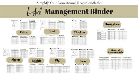 livestock management binder    images