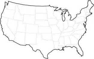 united states outline map no labels united states of america dakota studies